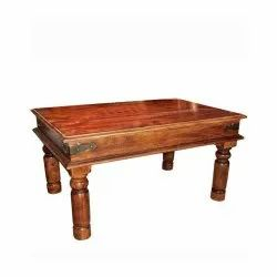 Rectangular Brown Wooden Center Table, For Home, Size: 2.5 X 3.5 Feet