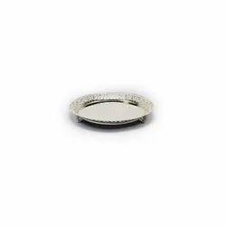 Round Cutwork Silver Platter, Size-Big