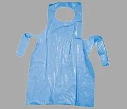 PE Blue Hospital Disposable Apron, Size: Large