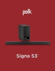 Pack Black Polk Audio Signa S3, Channel: 2