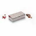 Square Weave Design Silver Box, Size-Small