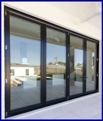 Modern Black Aluminium Partition Window, For Office