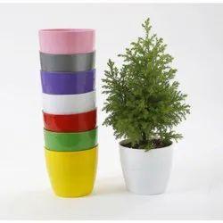 Round 12mm PVC Flower Pot, For Decoration, Size: 125mm