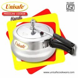Metal Chrome Inner Lid Unisafe 3 Litre Handi Pressure Cooker, For In Cooking, For Home
