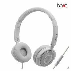 White Foldable Boat Bassheads 900 Wired Headphone With Mic