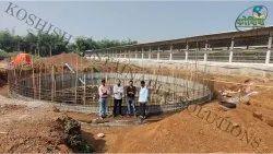 模块化FRP沼气架,用于工业,植物大小:750暨
