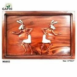 Multicolor Carving Wooden Handicrafts Items, For Decoration, Size: 17X11