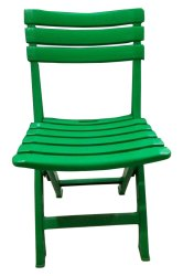 Green Plastic Foldable Chair
