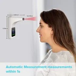 Automatic Wall Mounted Infrared Thermometer Temperature Machine For Office