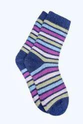 Ladies Woolen Striped Socks