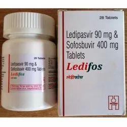 Ledifos 90mg 400 Mg Tablet  Ledipasvir  + Sofosbuvir