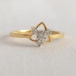 Veera Female Ladies Triangle Shape Diamond Ring