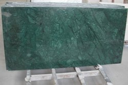 Polished Dark Green Granite Slab, For Flooring And Countertops