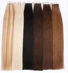 White , Black , Brown Color Clip On Indian Hair For Women And Girl