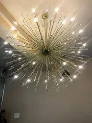 Crystal Brass LED Chandelier