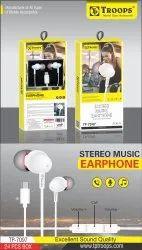 TP Troops Stereo Music Earphone Type-C 7097  (Box-24)  Earphone