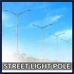 Galvanised Street Light Tubular Pole