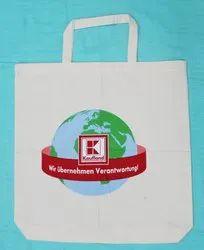 Logo Printed Cotton Carry Bag
