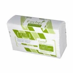 White Rectangle M Fold Tissue Paper, Packaging Size: 150 Sheets Each, Box