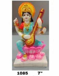 Multicolor Polyresin Saraswati Statue