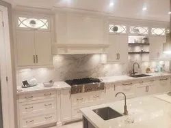 White Color Kitchen Package With Fancy Hood