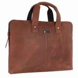Hammonds Flycatcher Genuine Vintage Finish Leather 13 inch Premium Laptop Messenger Bag