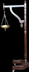 Wooden Shirodhara Stand with Brass Pot