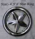 Mirror Finished Round 4inch Stainless Steel Star Railing Design