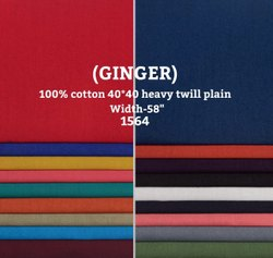 Ginger Cotton Heavy Twill Shirting Fabric