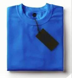 Half Sleeve Rice Knit Round Neck Plain T Shirt