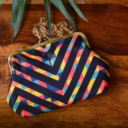 Designer Potli Style Printed Clutch  Bag