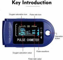 Pulse Oximeter, Finger Tip Blood Oxygen Saturation Monitor, With Digital Display