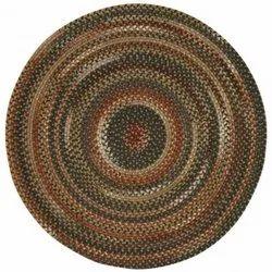 Round Dark Brown Jute Rug, For Floor, Size: 81 Cm