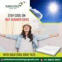 White Reflective Cool Roof Tiles White Feet Tile - Silverplus