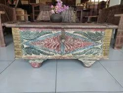 Multicolor Rectangle Wooden Blanket Box, For Storage