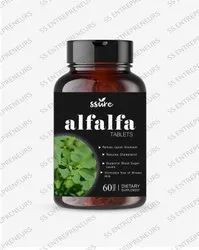 Ssure Alfalfa Tablets for Metabolic Health, Body Cleansing & Overall Wellness