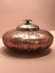 Round Glass Antique Pink Ancient Egyptian Vase (Large)