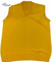 Yellow V Neck VP Oswal Men Woolen Sweater, Size: S-l