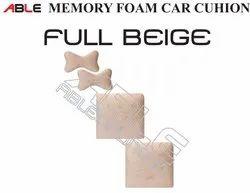 Full Beige Memory Foam Car Cushion