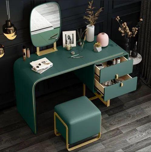 Light Luxury Dressing Table Set Vanity, Luxury Vanity Mirror With Lights