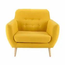 Wooden Modern Single Seater Sofa, Bedroom, Seating Capacity: 1