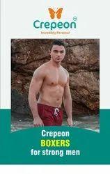 Maroon Cotton Crepeon Mens Boxer Shorts, Machine wash, Size: 95cm