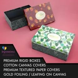 Luxury Rigid Boxes With Canvas Cover