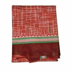 Mens Red Printed Cotton Gamcha