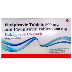 FabiFlu Favipiravir 800mg Tablets, 1 X 18, Treatment: Covid-19