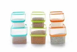 jony Square Plastic Storage Container 5 Kg Capicity