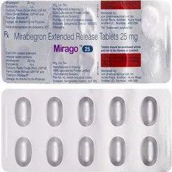 Mirago 25 ( Mirabegron Extended Release Tablet )