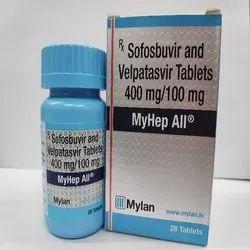 Myhep All (Sofosbuvir/Velpatasvir 400mg,100mg)