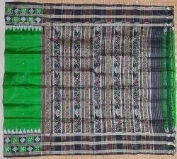 Party Wear Khandua Silk Saree, Without blouse piece, 5.5 m (separate blouse piece)