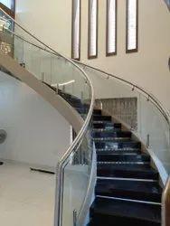 Bend Glass Handrail